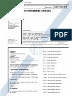 NBR 12798 - 1993 - Ferramental de Fundição