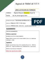 Licitacion Final 8 Femenino Soc. Española