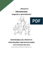 proyectomatrogimnasia preescolar