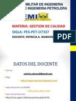 Plan de Clases Gestion de Calidad I-2014
