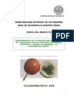 Proyecto Granadilla Vilcabamba JUNIO