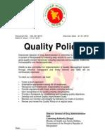 Quality Policy DGDA Bangladesh