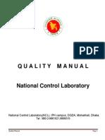 Quality Manual - DGDA Bangladesh
