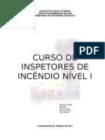 Apostila - Curso de Inspetores de Incêndio Nível I