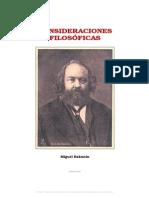 Bakunin - Consideraciones Filosóficas