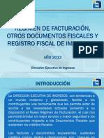 Presentacion Regimen de Facturacion Contribuyentes