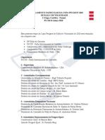 Regulamento Particular Da Copa Peugeot 2010 De