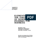 Elements of the Theory of Generalized Inverses of Matrices