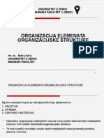 001 Organizacija Elemenata Organizacijske Strukture