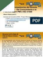 ACIS - PMS - MVLS - XIII Jornada de Gerencia de Proyectos de TI - Modelo de Competencias Del Gerente de Proyectos V2