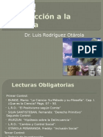 Introduccion a La Filosofia 2012-II