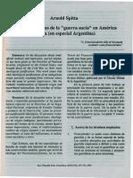 Arnold Spitta. Raices Ideològicas de La Guerra Sucia en America Latina (en Especial Argentina)