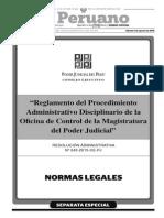 Reglamento Del Procedimiento Administrativo Disciplinario de La Oficina de Control de La Magistratura Del Poder Judicial