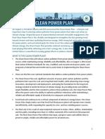 The Clean Power Plan Factsheet