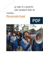 reducing rape to a generic indian male mindset fails its victims