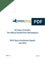 2015 NYSOH Open Enrollment Report
