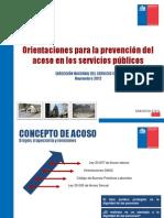 Nuevas Orientaciones en Acoso LAboral _DN Servicio Civil_Nov 2012