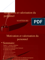 motivation et valorisation du personnel