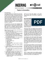 Topics in Acoustics - FE 3800
