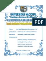 Informe - Coordenadas Utm - Geodesia