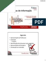 Sistemas de Informação Introdução