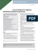 1 - Dépistage Et Prise en Charge de La Vaginose Bactérienne Pendant La Grossesse