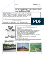 Evaluacion de Geografia Zonas de Chile Junio