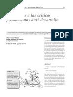 Alvaro Carvajal Critica Antidesarrollo