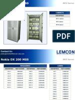 NokiaNSN DX 200 MSC Server MSS Catalogue
