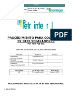 PET-PCD-PRO-001 Colocar en by Pass Separadores