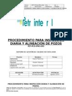 PET-PCD-PRO-003 Inspección Diaria y Alineación de Pozos