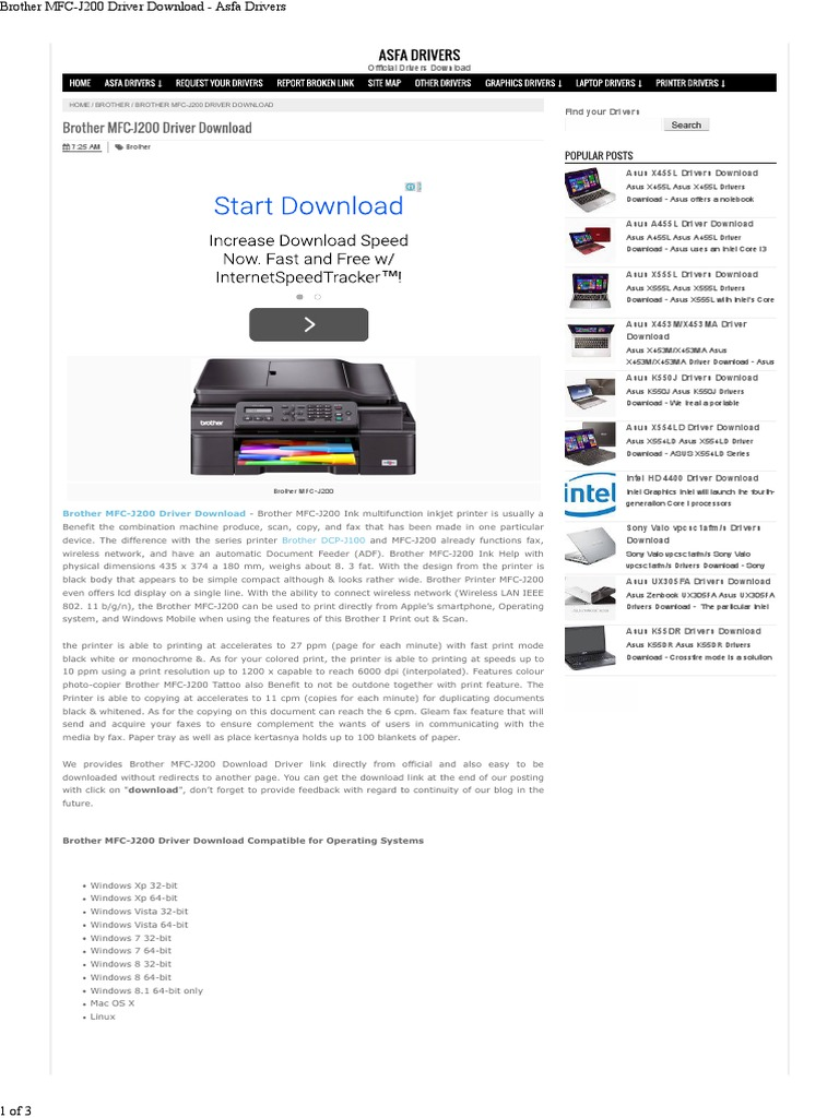 Brother MFC-J200 - Installation Guide | Finder (Software