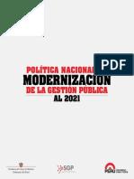 Lectura - Politica Nacional de Modernización de La Gestión Pública Al 2021