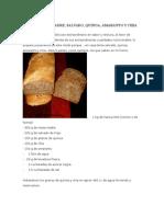 Pan Con Masa Madre Salvado Quinoa Amaranto y Chia