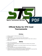official rules for sts coed tournaments hfh