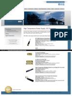 High Temperature DC Converters Power Supply – AHV
