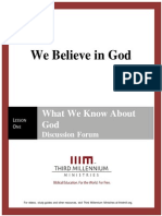 We Believe In God - Lesson 1 - Forum Transcript