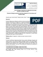 Potencial de producción de biogás a través de la co-digestión de excretas vacunas y ensilado de sorgo