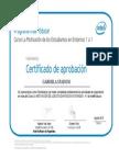 Certificado MasterTeacher Intel