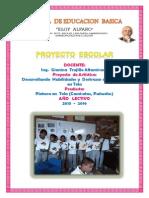 Proyecto de Clubes Esloy Alfaro Pintura en Tela Gianina