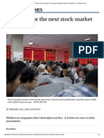 Preparing for the Next Stock-market Collapse_, Companies & Markets News & Top Stories - The Straits Times