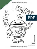 Desenho de O Robô Bot Adora Cantar e Dançar ,