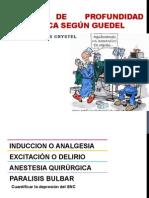 Etapas de Profundidad Anestésica Según Guedel