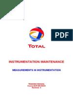 Measurements in Instrumentation