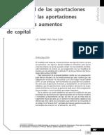 Efecto Fiscal de Las Aportaciones de Capital y Las Aportaciones Para Futuros Aumentos de Capital
