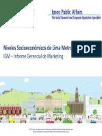 Niveles Socioeconomicos Lima - 2012 P1