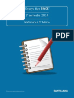 Ensayo tipo SIMCE, II semestre 2014, 6° básico Matemática