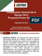 PGN 2015 Modificaciones Primer Debate