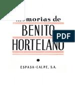 Memorias de Benito Hortelano
