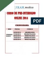 CRONOGRAMA INFECTOLOGIA